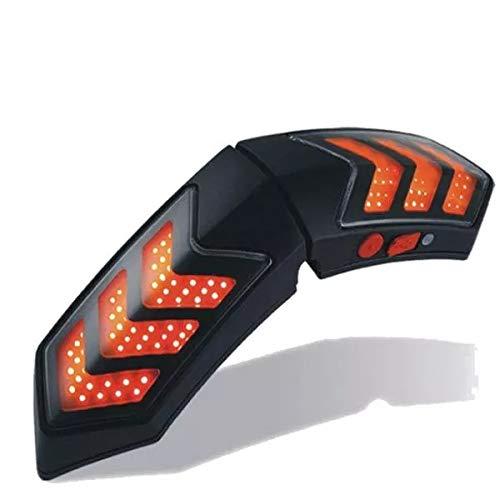Wooya 12V Wireless Smart Moto Casco Luci W/Casque Freno Segnale Lampade Impermeabile di Ricarica USB