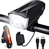 Bike Light Set [Remote Switch], OMERIL Rechargeable Bicycle Lights with 300 LM Front