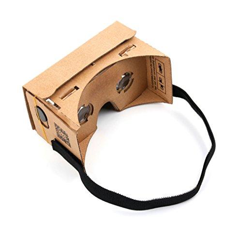 DURAGADGET Tauchen Sie EIN in die Welt der 3D-Spiele: Faltbare Cardboard Brille für Samsung Galaxy J5   J3   J2 Smartphones (2015 + 2016 Modelle)