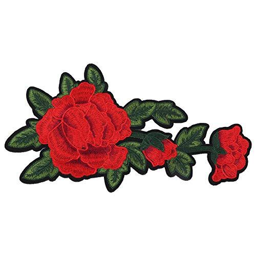 Gestickte Patch, Kleidung Patches Rose DIY Dekoration Eisen nähen Aufkleber Applique Craft Zubehör