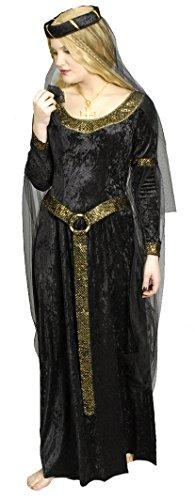 Schwarze Prinzessin Burgfräulein Kostüm Gr. 40 42 - 2