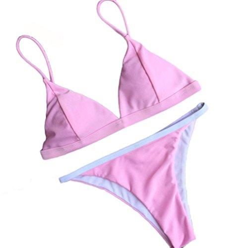 Damen Bikini-Set Internet Push-Up gepolsterte BH Beach Bikini Set Badeanzug Bademode (M)