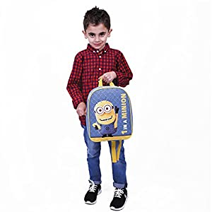418%2BWFp%2B%2BcL. SS300  - PERLETTI - Mochila Escolar Niño Mi Villano Favorito Azul Amarillo - Pequeño Bolso Escolar con Bob de los Minions - Bolsa…
