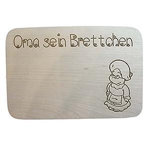 Frühstücksbrettchen Vesperbrett mit Name der Oma aus Holz | Vesperbretter aus Holz mit Gravur | Brettchen aus Holz personalisiert mit Gravur individuell der Wunschname | Geburtstag oder Muttertag