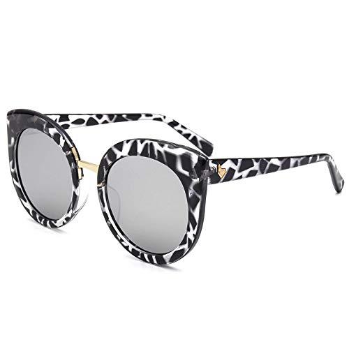 Yangjing-hl Mode Katzenauge Sonnenbrille koreanischen Frauen großen Rahmen Bunte Sonnenbrille c