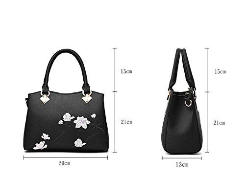 Mode Druck Blumen Schultertasche Messenger Tasche Handtasche Handtaschen Freizeit Wild Green