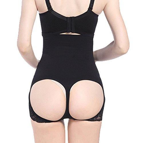 Womens traspirante in vita alta pizzo panty, Slim waist Trainer Body Shaper Nudo M per 155-170cm/61.02-66.93 pollici di altezza 4#