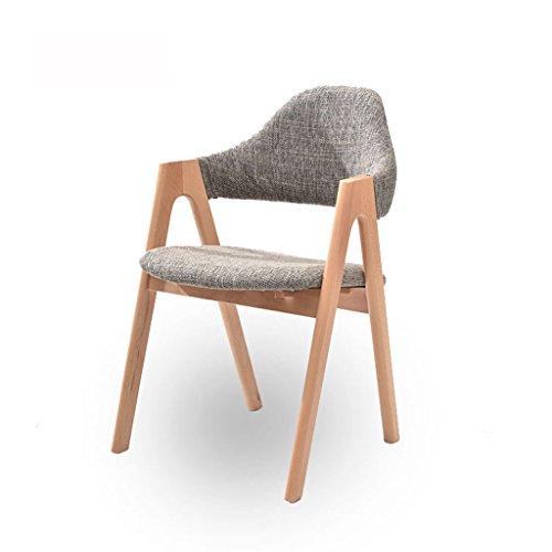 Wanli Shopping Mall Hocker Massivholz Esszimmer Stuhl Stoff Single Studie Stuhl Armlehne Mode Schreibtisch Stuhl Computer Stuhl (Farbe : B) (Größe-metall-stuhl Volle)