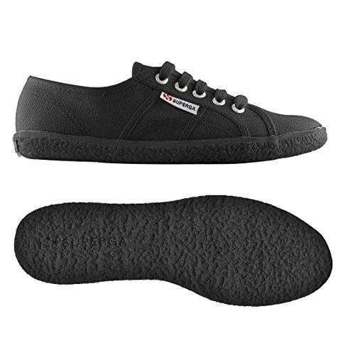 Superga 2750 NAKED COTU Damen Sneaker Full Black