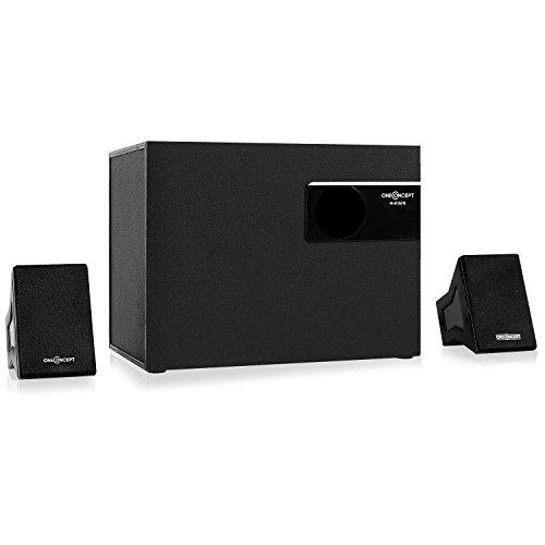 oneConcept Hi2028 aktives 2.1-Soundsystem Lautsprecher System (25W RMS Leistung, 10cm(4