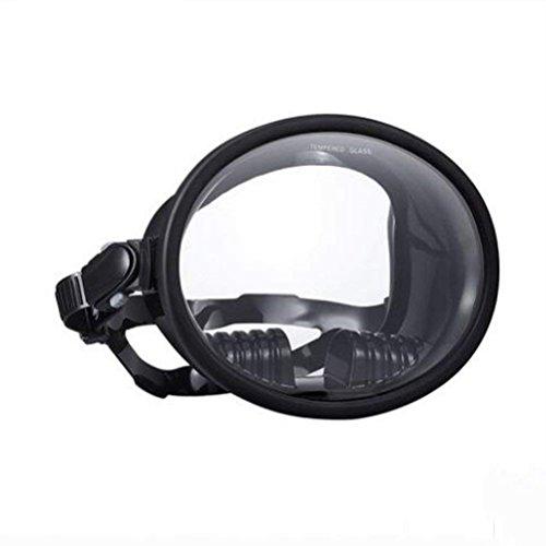 Deep Scuba Free Masque De Plongée Masque Complet Masque De Plongée avec Tuba Équipement De Natation HD Grand Champ De Vision Imperméable À l'eau Anti-Buée Soft Silicone Noir