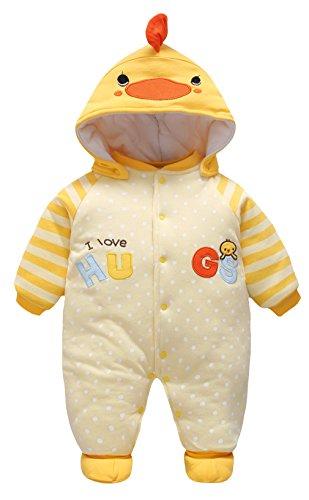 51b968ce639ae Y-BOA Costume Combinaison Barboteuse Capuche Dors Bien Bébé Fille Garçon  Pyjama Coton Coq 6