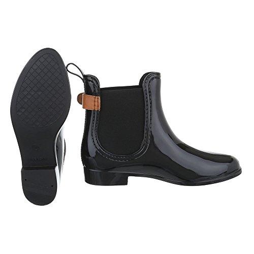Ital-Design - Stivali di gomma Donna Schwarz 99-55
