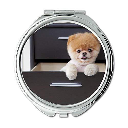Yanteng Spiegel, Kleiner Spiegel, Welpen Hunde Boo Hund, Taschenspiegel, 1 X 2X Lupe