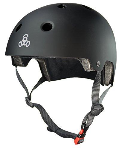 Triple 8 Protection De Skate Casque Brainsaver Black Taille S M Black