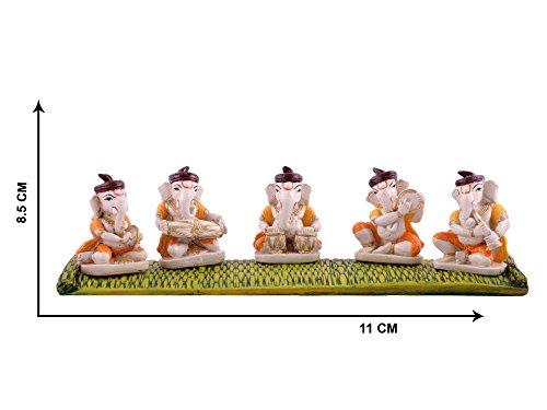 Musical Ganesha Beautiful Ganesha, Ganpati Murti Idol statua scultura per auto/ufficio decorazione, regalo ideale per la vostra amata by Affaires g-456 - Scultura Auto