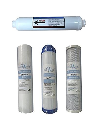 Nature's Water Lot de 4 filtres pour système de filtre à osmose inverse