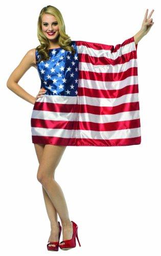 Kostüm Morris Standard - USA Nationalflagge Kostüm für Frauen - S/M