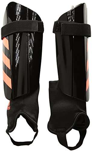 adidas Performance Ghost Club Shin Guards, Black/Solar Red, X-Large -