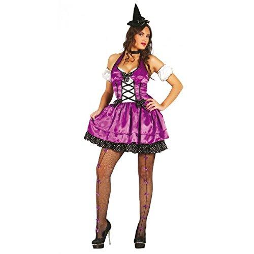 Kostüm von Hexe lila Erwachsene Größe M (Hexen Kostüme Lila)