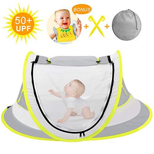 TUOWEI Baby Strandzelt, Pop up Strandmuschel,UPF 50+ UV-Schutz Sonnenschutz Shelter Tragbare Baby Beach Pop Up Zelt für Outdoor,Kleinkinder, Strandmuschel, Baby Pool