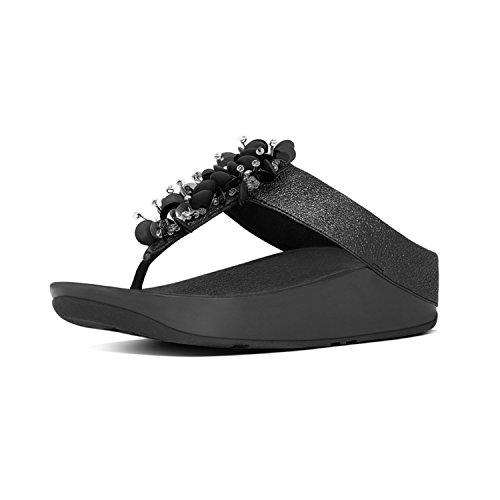 Fit Flop Boogaloo Tm Toe Post, Infradito Donna, Nero (Black 001), 40 EU