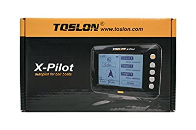 Toslon X-Pilot. Autopilot for Bait boats. GPS, 500 Way points, Batteries, Aerial by Toslon