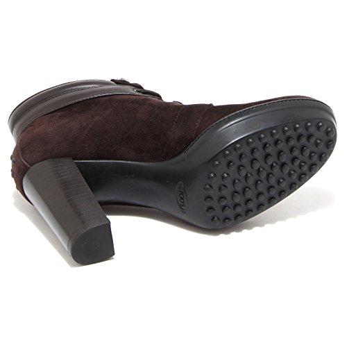 69925 tronchetto TOD'S ASP POLACCO scarpa stivale donna boots shoes testa di moro