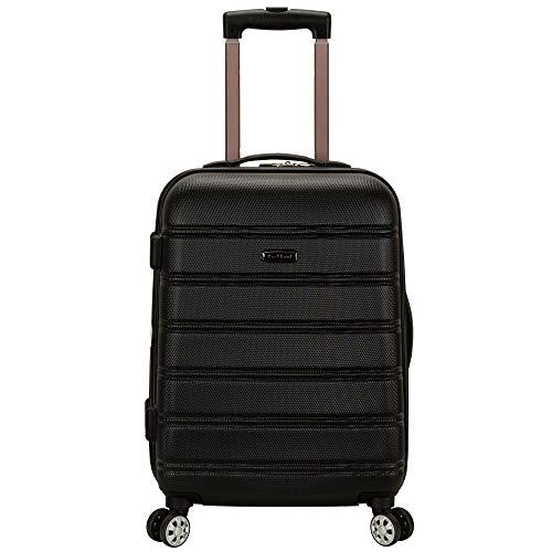 Rockland Kochtopfset Gepäck Melbourne 50,8cm erweiterbar ABS Carry On Gepäck, schwarz, one Size