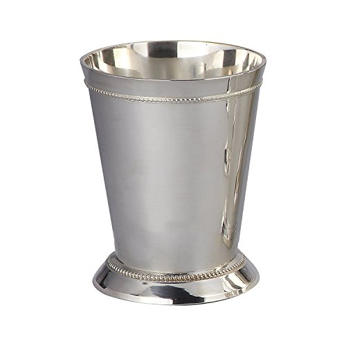 7.6cm BEADED MINT JULEP CUP - 7.6cm SILVER PLATED BEADED MINT JULEP CUP Cup-form-mint