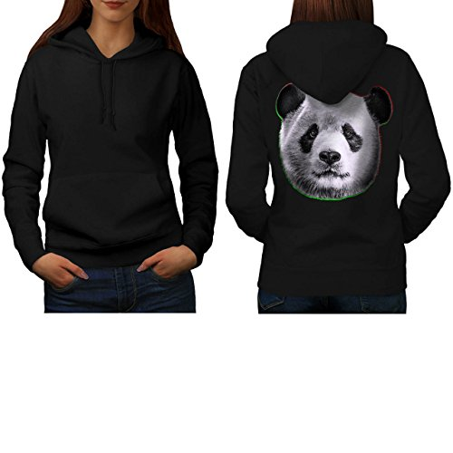 cracked-wood-panda-timber-style-women-new-black-xl-hoodie-back-wellcoda