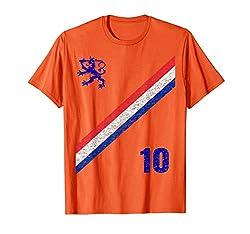 Holland Flag Soccer Trikot Orange Königstag Holland T-Shirt