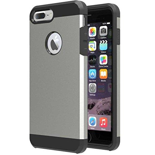 """iPhone 7 Plus Coque, AOFad Case Mince Protection des lourds 2-à-1 or TPU Avec 11 Colors Tréfilage Accessoires Série Pour Femme Homme 5.5"""" I699 AOFad B302"""