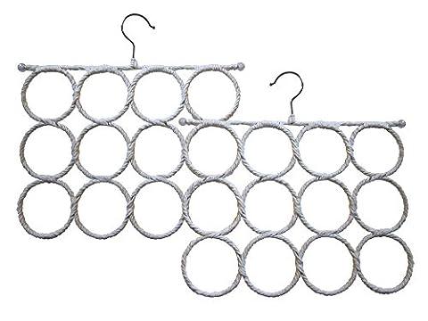 Specialty Styles - Lot de deux porte-écharpes. Cintre pour accessoires peu encombrant et qui ne fait pas d'accrocs. On peut l'utiliser dans un placard, comme cintre pour écharpe à accrocher à un support mural ou comme porte-écharpe à accrocher à une porte. On peut également l'utiliser comme porte-cravates ou leggings Nom de la marque : Specialty
