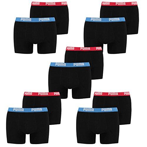 PUMA Herren Basic Boxer Boxershort Unterhose 10er Pack, Herbst/Winter 17/18,mt (M, Red Blue-505)