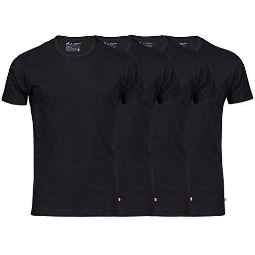 Puma 4er Pack T-Shirts Rundhals oder V-Neck 4x Schwarz (Rundhals) XL (T-shirt 4x)