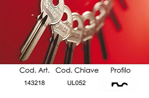 Schlüssel Silca Messing universal-4Spine DX -