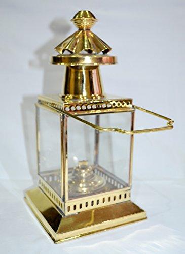 25,4cm Messing Laterne Leuchtturm ~ Schiff Lampe ~ Maritime ~ Nautisches Home Decor (Messing Laterne Nautische)