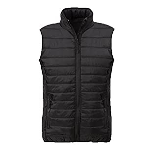Acode 117886-940-S 1515 Men's Quilted Waistcoat, Black, Small
