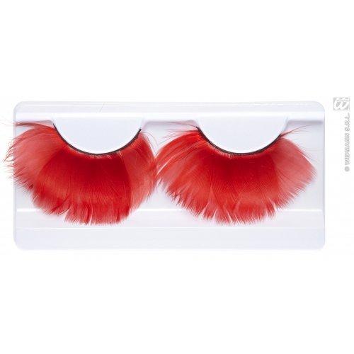 Roten Feder Wimpern Make-up für 20s Flapper Moll-bühne (Kostüme Flapper Make Up)
