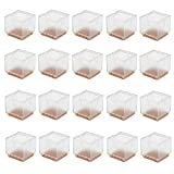 Cusfull 20 Pcs 3-3.5cm Chair Leg Caps Furniture Feet Pads Wood Floor Protectors