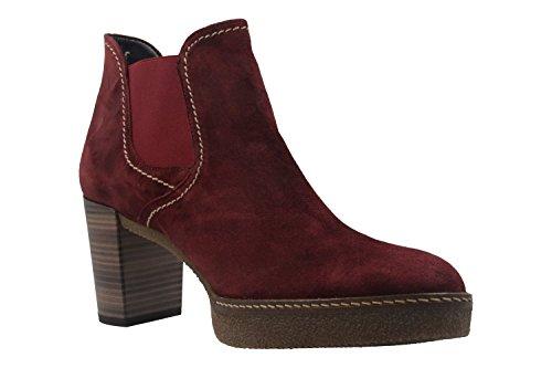 GABOR comfort - Damen Stiefeletten - Schwarz Schuhe in Übergrößen Rot