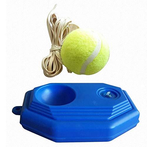 KEKDORY Tragbares Rebound-Tennistrainer-Selbstlernset Praktisches Tennis-Übungsgerät für Anfänger für Partner - Blau und Gelb