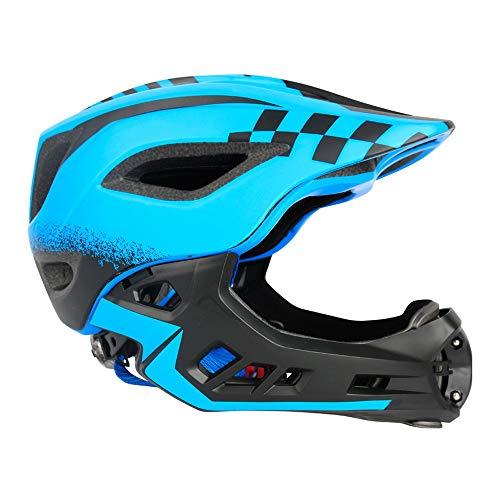 YAJAN-helmet Kinder Integralhelm,mit Abnehmbarem Kinnschutz Atmungsaktiv Fahrradhelm Passend für Kinder Verschiedene Sportarten und Nachtreiten