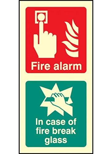 Caledonia segni 41031segnale di allarme antincendio/Rompere il vetro
