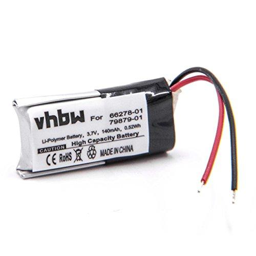 vhbw Li-Polymer Akku 140mAh (3.7V) für Wireless Headset Kopfhörer Plantronics CS70, CS70-N, CS70N -