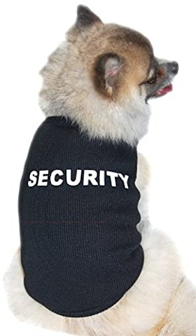 Anima Black Ribbed Security Tank Top, Poly Cotton Blend, Large by Anima International Corp.