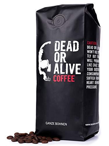 DEAD OR ALIVE Coffee - Deadly Strong 500g | extra starker Kaffee mit kräftigem Aroma | perfekte Cafe Bohnen und Espresso Bohnen | Kaffee ganze Bohnen