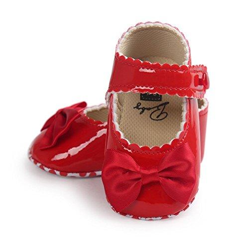 Miya Sudy Baby Mädchen PU Lederne Weiche Sole Bowknot Prinzessin Mary Jane Schuhe Rot