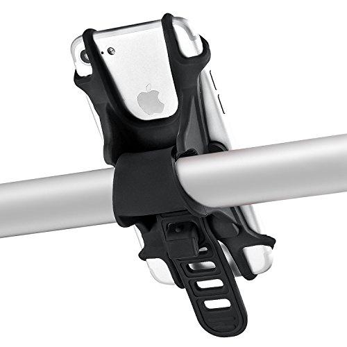 Bike phone Halterung–Silikon verstellbar Fahrrad Halterung, nicht brechen oder Rost–Universal Wiege für jeden Smartphone mit 11,9–15,2cm Bildschirme und alle Fahrrad Lenker, Abnehmen und Anbringen ganze Halterung in Sekunden